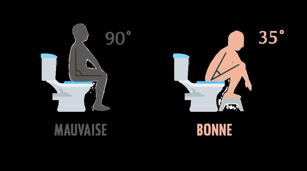 Bonne Position sur les toilettes